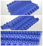 Flache Platten-hitzebeständiger Plastikmatten-Oberseite Conveyo Riemen mit Blendenöffnungen