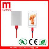 Blitz-Nylonflechten-Aufladeeinheits-Kabel Smartphone Aufladeeinheits-Kabel USB-Daten-Kabel