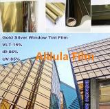 Calor que rechaza el tinte de la ventana de Silver&Gold de la aislamiento de la película del edificio