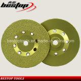 Паяемый вакуумом абразивный диск диаманта формы чашки для бетона