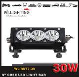 6inch 30W si raddoppiano riga della barra chiara del CREE LED dell'obiettivo di colore singola per la lampada fuori strada di SUV 4X4