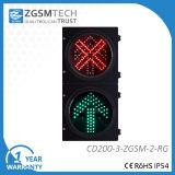 indicatore luminoso del segnale stradale di 200mm LED con la freccia di verde della croce rossa