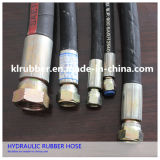 Hydraulic Fitting를 가진 SAE100 R2at High Pressure Rubber Hydraulic Hose