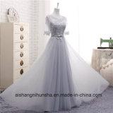 Brautjunfer kleidet beinahe lange Hülsen-Spitze-reizvolles Heimkehr-Partei-Kleid
