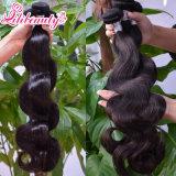 100%未加工卸し売り加工されていないボディ波の人間の毛髪の拡張