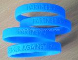 Gedruckter kundenspezifischer Silikon-GummiWristband für Förderung