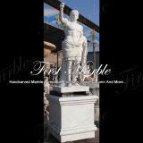 손 새겨진 조각품 대리석 돌 화강암 Metrix Carrara Caesar 동상 Ms 913