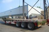 3-assen Groen Laag Bed/de Semi Aanhangwagen van de Oplegger van het Nut Lowboy