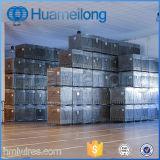 倉庫のFoldableスタッキングの記憶の金網の容器
