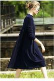 Vestido da caxemira das mulheres com garganta redonda 13brdw040