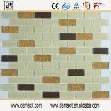 Tuile de mosaïque décorative de verre cristal pour le mur