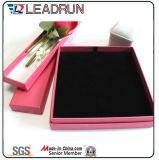 Cadre en bois de boucle d'oreille de rectangle de carton de caisse d'emballage de mémoire de bijou de cadeau de papier de bijou (Ysn1)