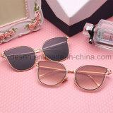 Lunettes de soleil reflétées de femmes de lentilles de plot réflectorisé de mode