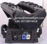 단계 DMX512 채널 두 배 헤드 당이 가벼운 RGBW 광속 LED 이동하는 맨 위 거미 8 눈에 의하여 점화한다