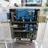 二重ノズルの電子送り装置のウォータージェットの編む織機