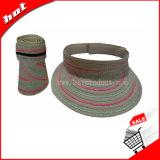 Sombrero colorido del visera del sombrero de Sun de la trenza de papel