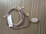 Mehrschichtiges Gewebe-Armband mit Vogel und Stern