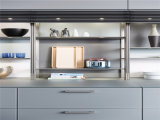2015 polijst de Nieuwe Witte Hoge Kleur van het Ontwerp Welbom het Houten Meubilair van de Keukenkast