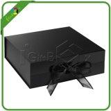 Оптовая черная магнитная коробка подарка закрытия с тесемкой