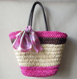 Factory Supply Different Color Natural Straw Fashion Beach sacs en paille Sacs à main