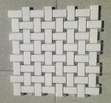 Witte Marmeren Tegel Basketweave