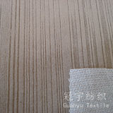 Tissu 100% gravé en relief de polyester de velours collé avec le support de T/C