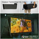 Cubierta curvada pantalla LED flexible P4 HD Video Display Galaxias-4