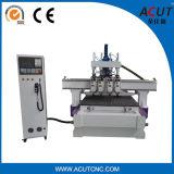 Máquina pneumática do gravador do router do CNC da linha central do router 4 do CNC