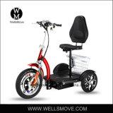uno mismo de 2017 ruedas de 500W 48V 12ah 3 que balancea la vespa eléctrica, alegre, golf