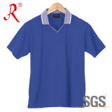 Camiseta respirable del polo de Leasure con delgado agarrada (QF-2327)