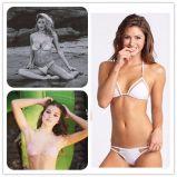 Farben-u. Größen-Badeanzug-Komfort-weiche elastische Gewebe-Oberseite-Badebekleidung der Frauen zweiteilige verschiedene