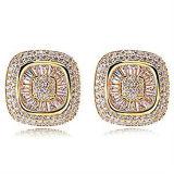 925の銀製CZのイヤリングの方法宝石類の卸売