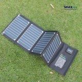20W 2-Port pliant le chargeur solaire d'USB avec la technologie pliable portative à haut rendement de Powermax Q.I. de panneau solaire pour l'iPhone, iPad, iPod. etc. (FSC-20A)