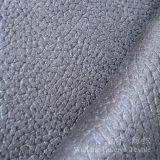 Tissu micro de polyester de suède de cuir gravé en relief pour le sofa