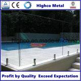 Broche en verre d'acier inoxydable pour la clôture de syndicat de prix ferme de Frameless
