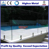 Espita de cristal del acero inoxidable para el cercado de la piscina de Frameless