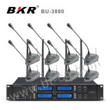 Bu-3880 système sans fil de conférence de la Manche de la fréquence ultra-haute 8