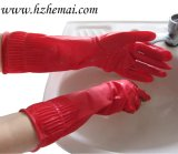 Luvas longas do látex da cozinha das luvas do látex do agregado familiar que lavam a luva do trabalho