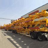 3개의 차축 반 40 톤 해골 트레일러 트레일러 40 피트 평상형 트레일러