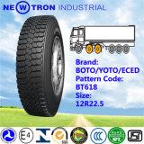 Pneu bon marché 12r22.5, pneu de camion des prix de boeuf de vert de Boto avec Smartway