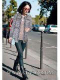 Europäische Form-Auslegung-Dame-Winter-Wollen schließen Jacke kurz