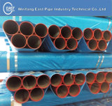 ERW Seamless Steel Pipe con Victaulic Grooved Painting Red