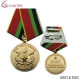 medaglia di oro di disegno 3D con i nastri (LM1715)