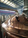 500L販売のための赤い銅の醸造物のやかん