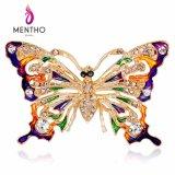 새로운 사기질에 의하여 그려지는 다채로운 모조 다이아몬드 나비 브로치 형식 보석