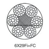 리프트 또는 엘리베이터 스틸 와이어 로프 6X29fi + FC