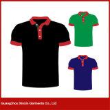 Camisetas rojas del polo del algodón de la alta calidad de los hombres por encargo (P61)