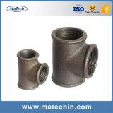 Ajustage de précision de pipe malléable fait sur commande de fer de moulage de bonne qualité de constructeurs