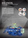 A cor giratória Airblowing do PVC um calç a máquina da injeção