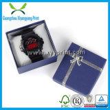 Rectángulo de regalo de papel de encargo del almacenaje del reloj del precio barato